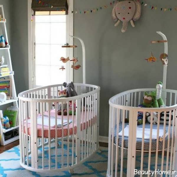 دکوراسیون داخلی اتاق نوزاد با طراحی شیک و متفاوت