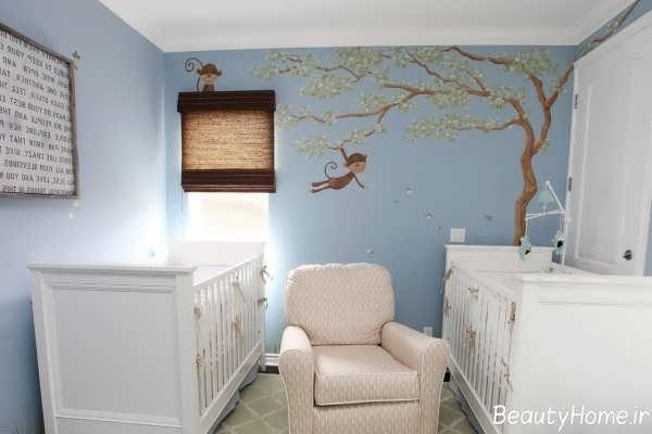 طراحی دکوراسیون متفاوت و زیبا اتاق نوزاد