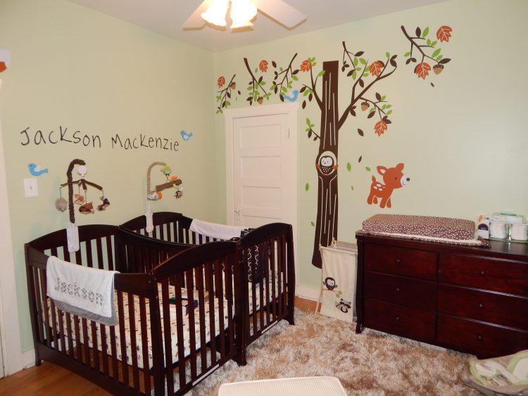دکوراسیون اتاق نوزاد دوقلو با طراحی شیک و زیبا