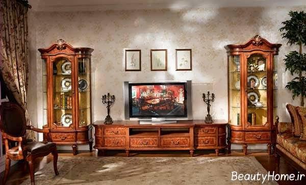 مدل های زیبا و متفاوت میز تلویزیون سلطنتی و کلاسیک