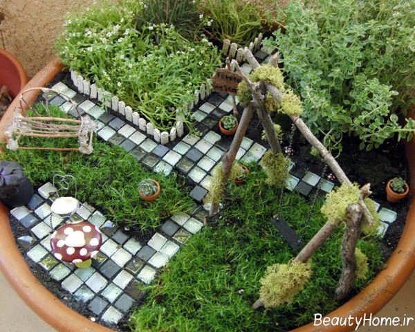 طراحی باغچه های کوچک با ایده های بکر و ارزان