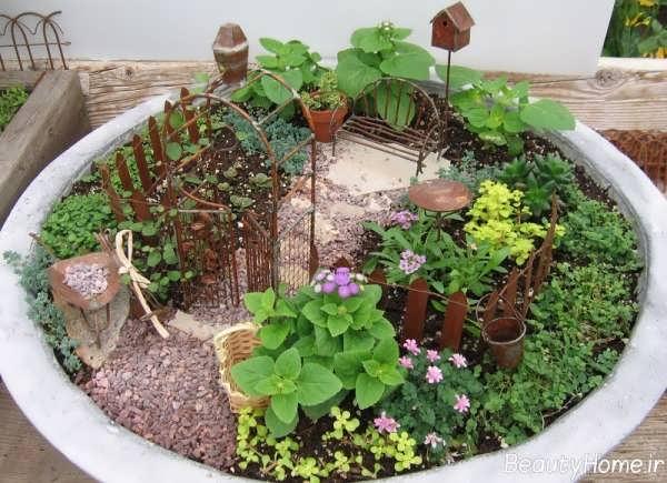 تزیین زیبا باغچه های کوچک