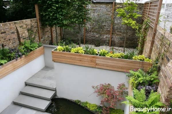 دیزاین باغچه کوچک با جدیدترین روش ها