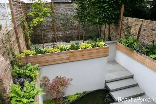 دیزاین باغچه حیاط