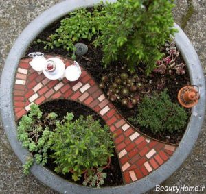 طراحی شیک و کاربردی باغچه کوچک