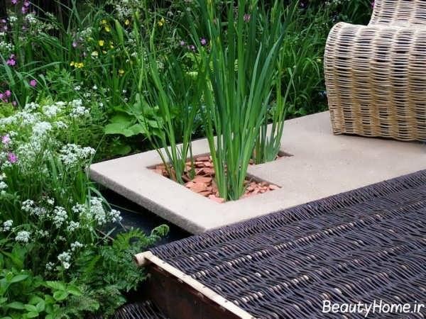 دیزاین باغچه کوچک و زیبا