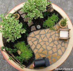 طراحی باغچه های کوچک با کمک روش های ارزان