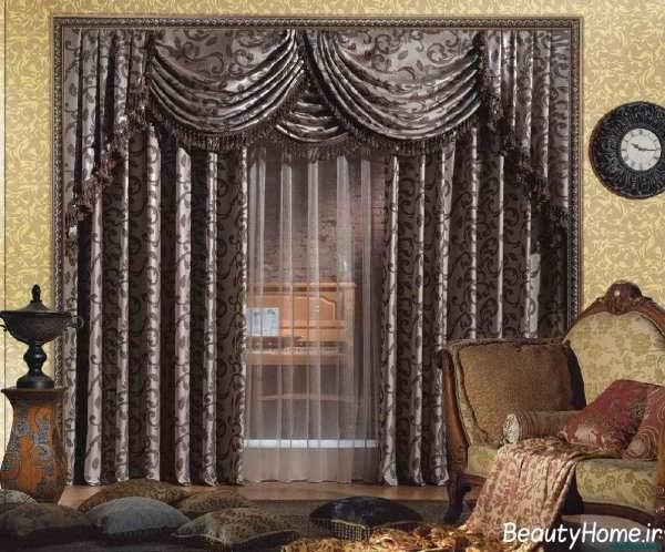مدل پرده اتاق نشیمن زیبا و شیک