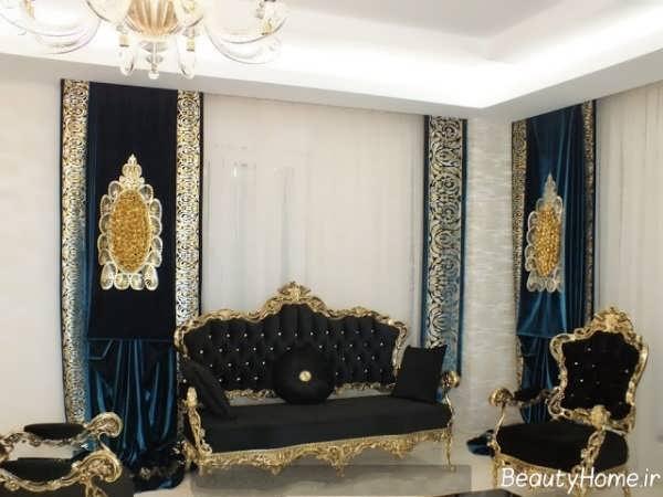 پرده اتاق نشیمن با طرح های شیک و جدید