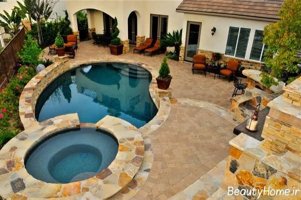 طراحی مدرن و جدید حیاط خلوت