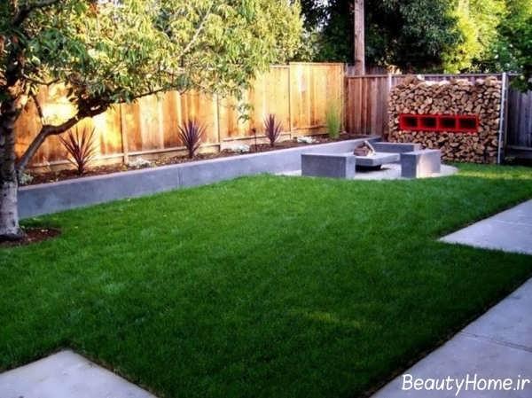 طراحی زیبا و جدید حیاط خلوت