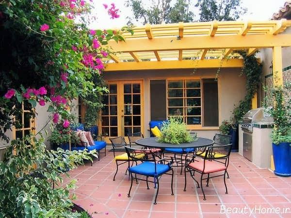 طراحی زیبا حیاط خلوت با کمک روش های جدید