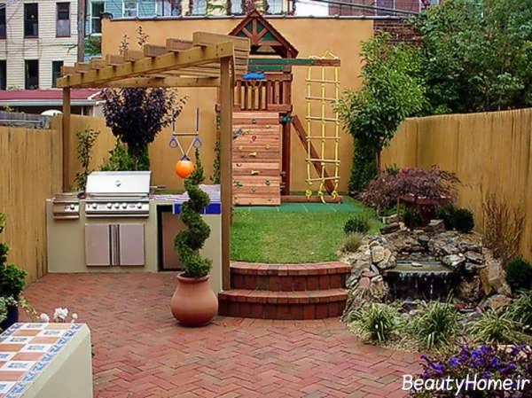 طراحی شیک و کابردی حیاط خلوت برای خانه های لوکس