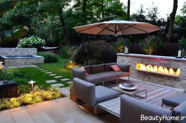 طراحی زیبا و متفاوت حیاط خلوت با کمک روش های مدرن
