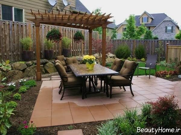 طراحی لوکس و مدرن حیاط خلوت