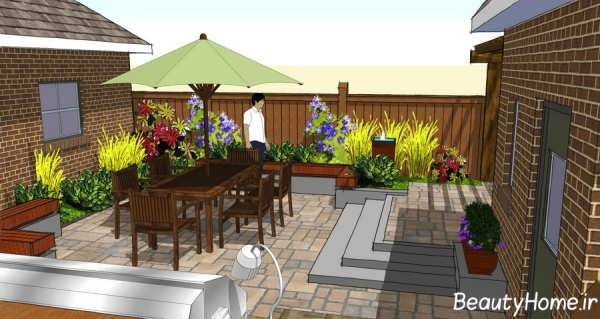 طراحی آلاچیق حیاط خلوت