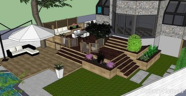 طراحی جذاب و جدید حیاط خلوت