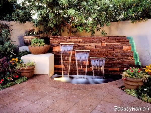 طراحی زیبا و جذاب حیاط خلوت