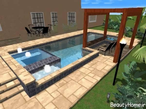 طراحی مدرن و شیک حیاط خلوت