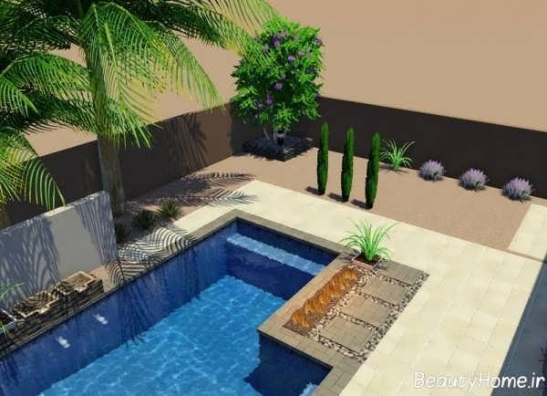 طراحی شیک و زیبا حیاط خلوت
