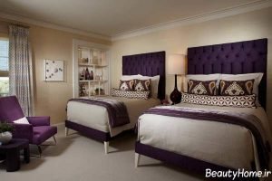 دکوراسیون داخلی اتاق خواب ارغوانی