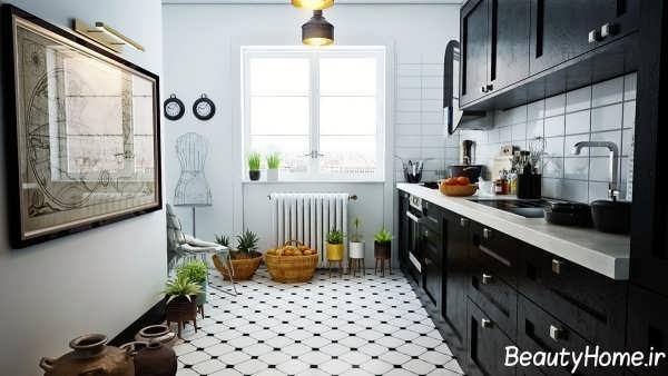 طراحی دکوراسیون مدرن و متفاوت آشپزخانه