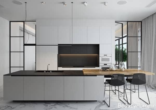 دکوراسیون آشپزخانه با طراحی شیک و کاربردی