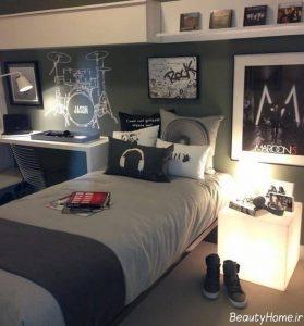 طراحی اتاق خواب پسرانه به کمک روش های مدرن