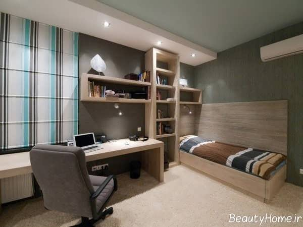 طراحی اتاق خواب پسرانه جوان