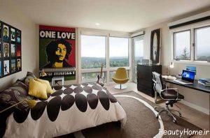طراحی اتاق خواب پسرانه جوان با کمک روش های مدرن