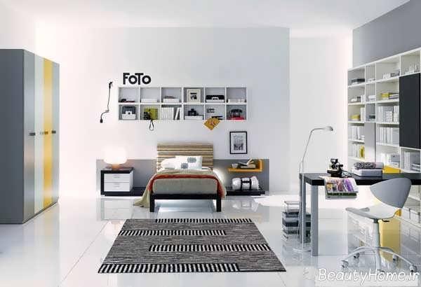 طراحی مدرن و کاربردی اتاق خواب پسرانه