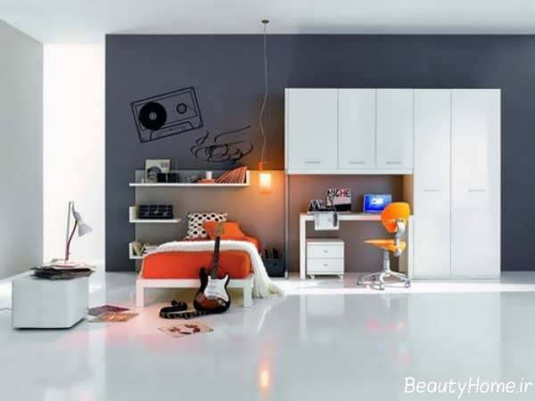طراحی دکوراسیون داخلی اتاق خواب پسرانه