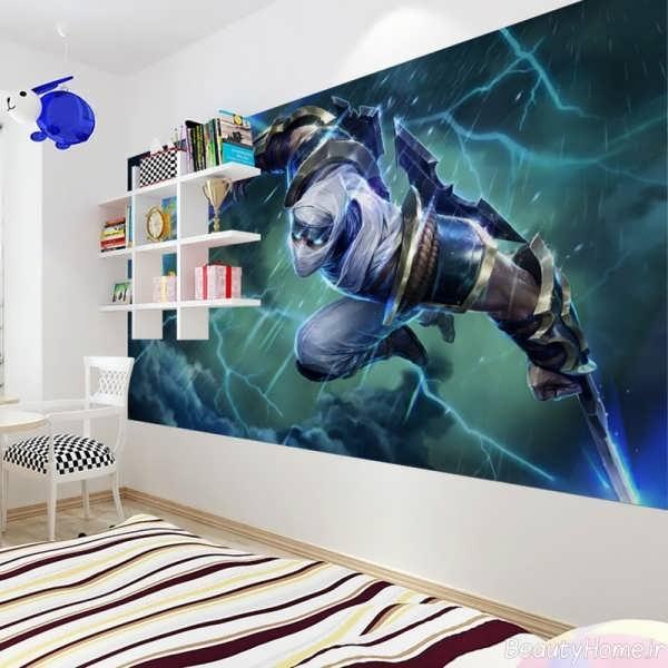 طراحی شیک و کاربردی اتاق خواب پسرانه