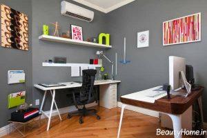 خلاقیت در دکوراسیون اتاق کار