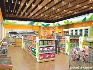 دکوراسیون زیبا و کاربردی فروشگاه مواد غذایی