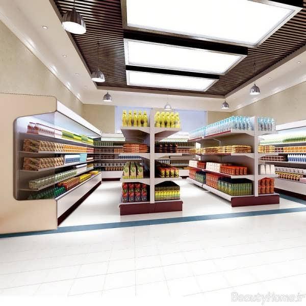 فروشگاه مواد غذایی با دکوراسیون زیبا