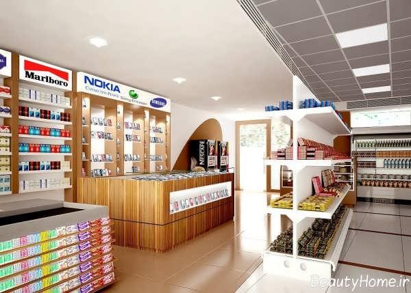 فروشگاه مواد غذایی با دکوراسیون داخلی زیبا و بی نظیر