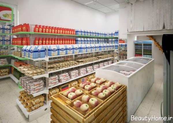 طراحی و چیدمان فروشگاه مواد غذایی
