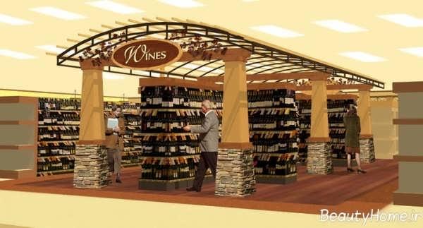 دکوراسیون شیک و مدرن فروشگاه مواد غذایی