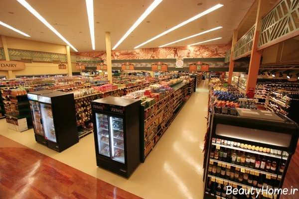طراحی دکوراسیون داخلی فروشگاه مواد غذایی با روش های مدرن