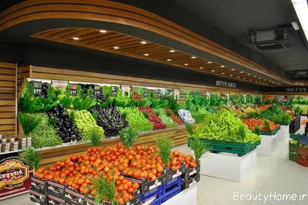 دکوراسیون فروشگاه مواد غذایی با طراحی زیبا و متفاوت