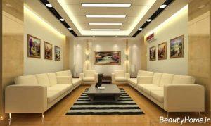طرح سقف کاذب برای اتاق نشیمن