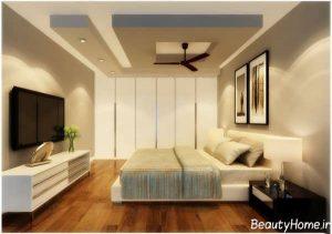 طرح زیبا و شیک سقف کاذب برای اتاق خواب