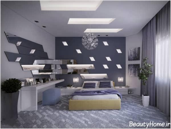 طرح زیبا سقف کاذب برای اتاق خواب