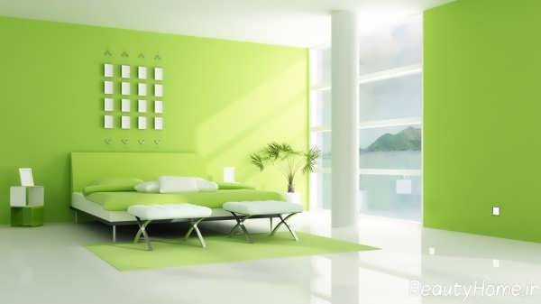 دکوراسیون سبز با طراحی زیبا و متفاوت