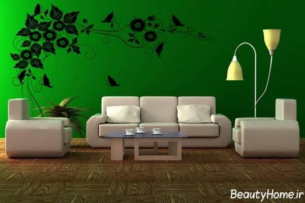دکوراسیون داخلی منزل با رنگ سبز