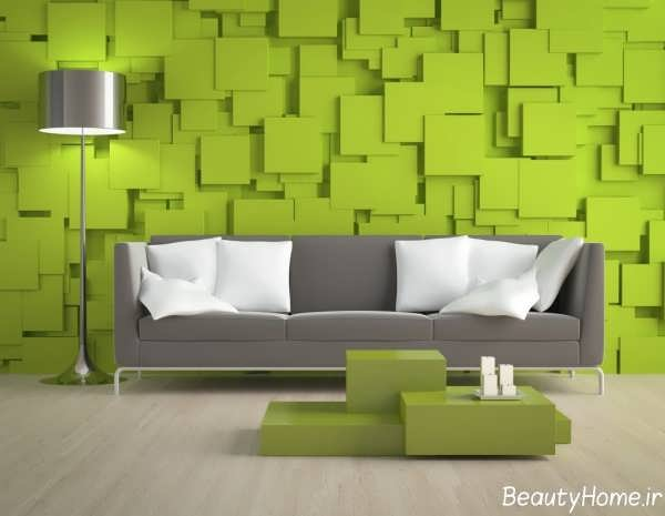 دکوراسیون پذیرایی سبز