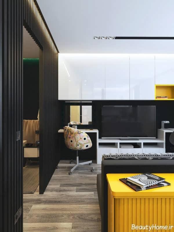 طراحی مدرن و اروپایی دکوراسیون خانه بسیار کوچک