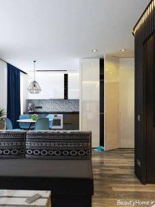 طراحی زیبا اتاق نشیمن کوچک