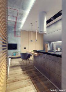 طراحی دکوراسیون داخلی آشپزخانه کوچک